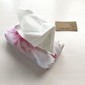 Flmanigó mintás bélelt papírzsebkendő tartó - Artiroka design - táska & tok - pénztárca & más tok - zsebkendőtartó - Meska.hu