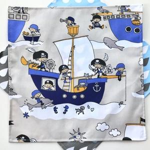 Kis kalóz fiúk és vízcsepp mintás zsebkendő vagy szalvéta szett - NoWaste - szépségápolás - egészségmegőrzés - Meska.hu