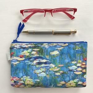 Monet - Vizililiomok - impresszionista festmény -  szemüvegtok, tolltartó neszesszer - Artiroka design, Táska & Tok, Pénztárca & Más tok, Pénztárca, Claude Monet impresszionista festőművész, Vizililiomok című festménye nyomán készült ez a prémium ir..., Meska