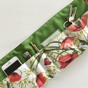Pipacs  mintás táskarendező, táska rendszerező  -  Artiroka design  - táska & tok - kézitáska & válltáska - belső rendező - Meska.hu
