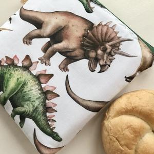 Dinoszaurusz mintás prémium neszesszer  - Artiroka design - táska & tok - neszesszer - Meska.hu