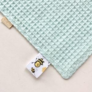 Róka család mintás  címkekendő, készségfejlesztő babajáték - Artiroka design - játék & gyerek - 3 éves kor alattiaknak - alvóka & rongyi - Meska.hu