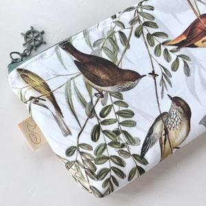 Madarak a nádasban - Nádi Rigó, madár mintás tolltartó, szemüvegtok, neszesszer -vízálló PUL belsővel- Artiroka design - táska & tok - pénztárca & más tok - szemüvegtok - Meska.hu