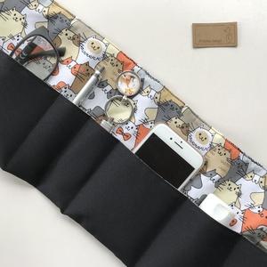Fekete alapon cica mintás táskarendező, táska rendszerező -  Artiroka design , Táska & Tok, Kézitáska & válltáska, Belső rendező, Varrás, Meska