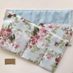 Rózsa mintás, kék színű táskarendező, táska rendszerező  -  Artiroka design  - táska & tok - kézitáska & válltáska - belső rendező - Meska.hu