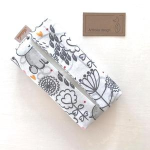 Víziló mintás,  bélelt papírzsebkendő tartó - Artiroka design - táska & tok - pénztárca & más tok - zsebkendőtartó tok - Meska.hu