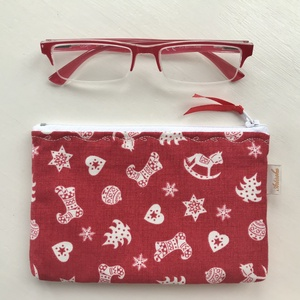 Karácsonyi mintás irattartó pénztárca, neszesszer - Artiroka design , Karácsony, Varrás, Hímzés, Meska