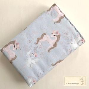 KÖNYVTOK prémium pamut textilből,  hattyú és ló mintával   - Artiroka design, Karácsony, Karácsonyi ajándékozás, Karácsonyi ajándékcsomagolás, Varrás, Ékszerkészítés, Meska