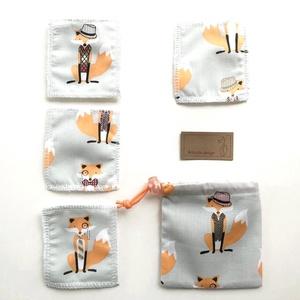 Róka - Móka bambusz frottir arctisztítópárna csomag, hordozó zsákkal, - NoWaste  - Meska.hu