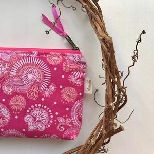 Pink, virág mintás irattartó, pénztárca - Artiroka design - Meska.hu
