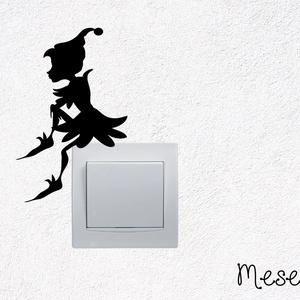 Manósziluett matrica, Falmatrica & Tapéta, Dekoráció, Otthon & Lakás, Mindenmás, Fotó, grafika, rajz, illusztráció, Édes manó lakhat nálad, ha szeretnéd! Minden barátságos otthonban jól érzi magát. Ültetheted villany..., Meska