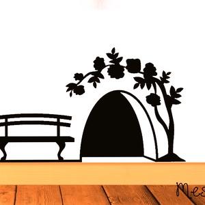 Tündérajtó matrica, Dekoráció, Otthon & lakás, Falmatrica, Mindenmás, Fotó, grafika, rajz, illusztráció, Ssssh! Az ajtó mögött tündér lakik! Úgy tartják, ha valaki bekopog hozzá, annak szerencsét hoz az él..., Meska