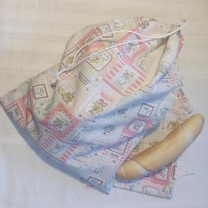 """Bevásárló textilzsák szett \""""tavaszi növények\"""", Táska & Tok, Bevásárlás & Shopper táska, Shopper, textiltáska, szatyor, Varrás, Elengedhetetlen kellék pékáru, vagy zöldség-gyümölcs vásárláshoz. \nA szett egy nagy és kettő kicsi p..., Meska"""