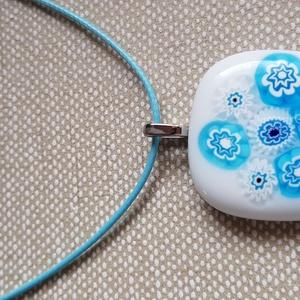 Világos kék virágos üvegékszer szett szülinapra,névnapra, évfordulóra (mesesdolgok) - Meska.hu