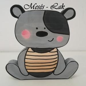 Festett fa figura Teddy Maci - Meska.hu