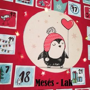 Adventi naptár ,  kalendárium , led izzós, Adventi naptár, Karácsony & Mikulás, Otthon & Lakás, Varrás, Mindenmás, Gyönyörű adventi kalendáriumot készítettem :)\nA 9*9 centis zsebeket megtöltheted gyerkőcöd kedvére m..., Meska