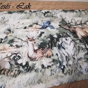 Falvédő Erdő állatai, Otthon & Lakás, Lakástextil, Falvédő, Varrás, Patchwork, foltvarrás, Meska