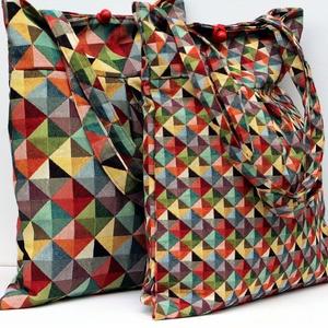 Geometriai mintás táska (meseviragom) - Meska.hu