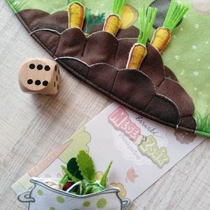 Zöldségszüret EXTRA társasjáték, Gyerek & játék, Játék, Készségfejlesztő játék, Társasjáték, Varrás, Szőnyegre rakható, óriási textiltársas.\n\nMit terem a kertben? Mit főzzünk belőle? Zöldséggyűjtögetős..., Meska