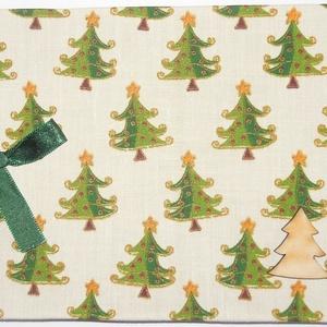 """KÁMA fényképalbumok \"""" Karácsonyi fenyőfás, fehér A vagy B\"""", Otthon & Lakás, Papír írószer, Album & Fotóalbum, Könyvkötés, Vászon kötésű fényképalbum dekoratív fém sarkokkal, színes szalaggal átkötve,\n24 db 9×13-as vagy 24 ..., Meska"""