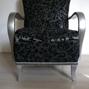 Art Deco fotel, fekete-ezüst színben (meyu) - Meska.hu