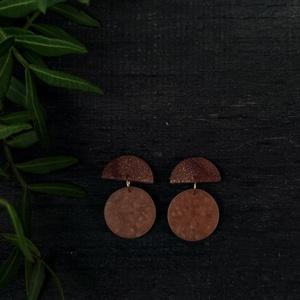 Simple /Magical Brown/, Ékszer, Fülbevaló, Lógó fülbevaló, Gyurma, Ékszerkészítés, Meska