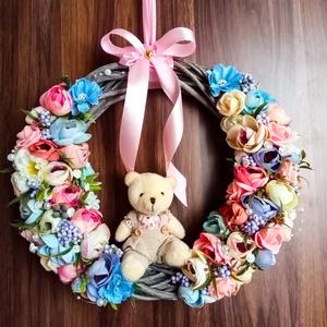 Tavaszi ajtókopogtató, Otthon & Lakás, Dekoráció, Ajtódísz & Kopogtató, Virágkötés, Mindenmás, A hó-és jég alatt a tàj màr a TAVASZRÓL àlmodik! Tegyél így te is, és díszítsd fel otthonod ezzel az..., Meska