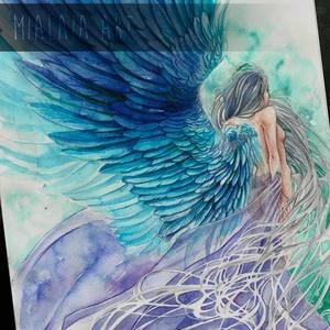 Soul of Azure, Képzőművészet, Festmény, Akvarell, Festészet, Fotó, grafika, rajz, illusztráció, Az Azúr lelke.  34x22es akvarell kép, Meska