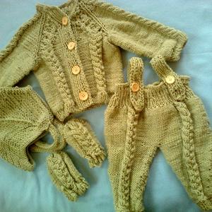 baby ruha-szett  - ruha & divat - babaruha & gyerekruha - pulóver - Meska.hu