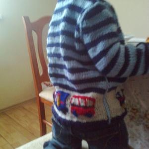 vonatos kardigán - ruha & divat - babaruha & gyerekruha - pulóver - Meska.hu