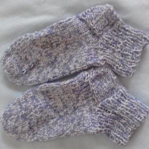 gyapjú keverék zokni 39-es _ AKCIÓ, Táska, Divat & Szépség, Kötés, Vastag gyapjú, akril keverékfonalból készült zokni. 39-es, Meska