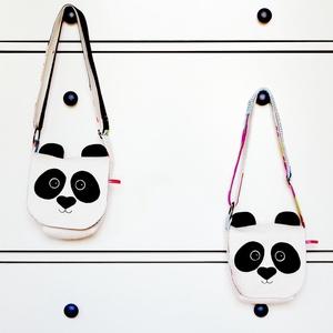 Panda válltáska lányoknak - állítható pántos leánymintás, fehér fekete mintás (miaszoszmuhely) - Meska.hu