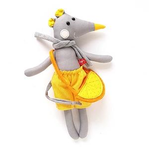 Frici, öltöztethető egér legény nadrágban, táskával - 25 cm magas! (miaszoszmuhely) - Meska.hu