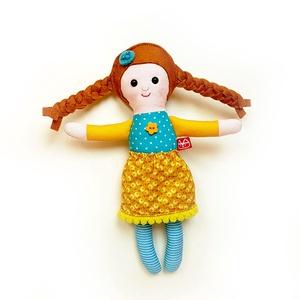 Piszke, Miaszösz manólány - öltöztethető apró baba, Gyerek & játék, Játék, Plüssállat, rongyjáték, Varrás, Baba-és bábkészítés, Pamut és filc anyagokból varrtam ezt az apró manólányt, saját dizájn alapján.\n\nManólánykámhoz gumis ..., Meska
