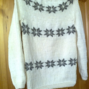 Mosás után is formatartó gyapjú norvég mintás pulóver, Táska, Divat & Szépség, Női ruha, Ruha, divat, Blúz, Póló, felsőrész, Kötés, 100% mosható merinói gyapjú fonalból készült, teljesen egybekötött, varrás nélkül készült norvég min..., Meska