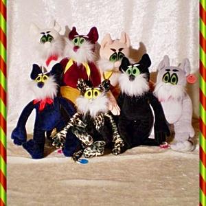 Fekete kitömött macska (Mikildi) - Meska.hu