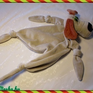 Rongyi kutyuska, Gyerek & játék, Gyerekszoba, Játék, Baba játék, Baba-és bábkészítés, Varrás, Ez a kutyus peluspótló, újszülöttek, nagyobb gyerekek kabalája. Lehet rágcsálni, vele aludni. Anyaga..., Meska