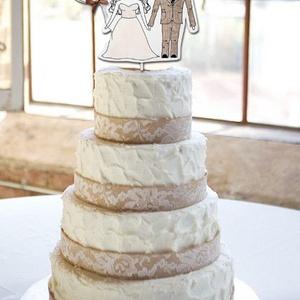 Egyedi esküvői tortadekor (milady) - Meska.hu