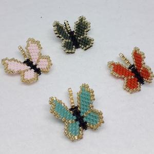 Tavaszi kis medálok, Ékszer, Medálos nyaklánc, Nyaklánc, Peyote technikával készült kis medálok, 11/0 japán gyöngy felhasználásával. Karkötőnek is készítem, ..., Meska