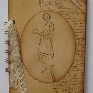 Receptkönyv - régóta őrzött receptekhez -nagymama receptjei -lánybúcsú - versenyajándék - rendezvényajándék, Otthon & lakás, Konyhafelszerelés, Receptfüzet, Naptár, képeslap, album, Papírművészet, A szakácskönyv az egyetlen könyv, amiről elmondhatjuk, hogy boldoggá tette az embereket.\n(Joseph Con..., Meska