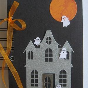 Halloween-party a Szellemkastélyban - album - fekete-narancssárga, Ajándékkísérő, Naptár, képeslap, album, Otthon & lakás, Jegyzetfüzet, napló, Papírművészet, Ha ismered Halloween ünnepének eredetét és hagyományait, ha készítettél már erre az alkalomra rendha..., Meska