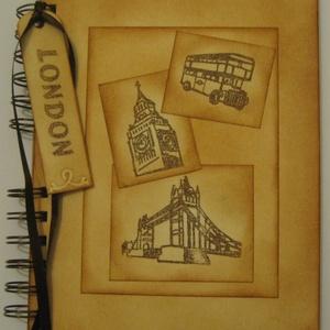 Emlékmegőrző - Londoni emlék - napló (album) - nászajándék- nászút, Naptár, képeslap, album, Otthon & lakás, Fotóalbum, Jegyzetfüzet, napló, Papírművészet, Az albumot azoknak  ajándékozhatod, akik a külföldi utazást, tanulást, munkát választják.\n\nAjándékba..., Meska