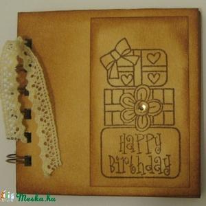 Emlékmegőrző - Boldog születésnapot! - csoportajándék - napló - születésnap - fénykép 2. - örök emlék - egyedi termék, Jegyzetfüzet & Napló, Papír írószer, Otthon & Lakás, Papírművészet, Barátok, családtagok, munkatársak részére lehet jókívánságokat írni a naplóba.\n\nElhelyezheted  egyet..., Meska