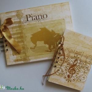 Zongorajáték - zenekedvelőknek , zenetanároknak - album (napló) - zongoraverseny - zeneiskolás - egyedi ajándék - emlék - Meska.hu
