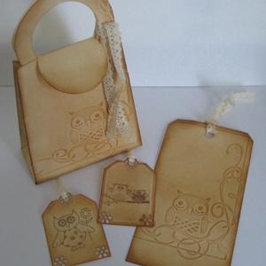Ajándékötlet ballagóknak - ballagtatóknak: Könyvjelző, ajándékátadó táska,  ajándékkísérők - örök emlék - egyedi ajándék, Naptár, képeslap, album, Otthon & lakás, Könyvjelző, Ballagás, Ünnepi dekoráció, Dekoráció, Ajándékkísérő, Papírművészet, Bagolykedvelőknek, könyvimádóknak, ballagóknak és ballagtatóknak ajándékozható csomag.\n\nKönyvjelző m..., Meska