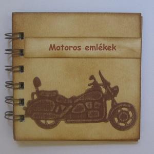 Motoros emlékek -legénybúcsú -  rendezvények - találkozók,- versenyek - csoportajándék - emlékmegőrző, Naptár, képeslap, album, Otthon & lakás, Férfiaknak, Bringás kiegészítők, Papírművészet, Az albumot azoknak a barátaidnak, szeretteidnek ajándékozhatod, akik szívesen őrzik meg a motoros ta..., Meska