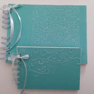 Esküvőtervezés, vendégkönyv, album - jókívánságkönyv esküvőre, családi ünnepekre, Vendégkönyv, Emlék & Ajándék, Esküvő, Papírművészet, Egyedi dombormintával készült albumjaim ajánlom esküvőre esküvőtervezőnek és vendégkönyvnek vagy jók..., Meska
