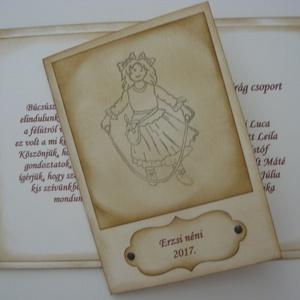 Óvodás voltam - köszönetlap/kártya - ajándékkísérő, Naptár, képeslap, album, Otthon & lakás, Képeslap, levélpapír, Ajándékkísérő, Dekoráció, Ünnepi dekoráció, Ballagás, Papírművészet, Köszönetlap/kártya óvodai búcsúztatóra.\nA szeretettel kiválasztott ajándék kísérője is lehet\n\nA tint..., Meska