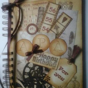 Egyedi emlékmegőrző - Boldog születésnapot! - album - születésnap - apa - örök emlék - egyedi ajándék, Otthon & lakás, Naptár, képeslap, album, Jegyzetfüzet, napló, Fotóalbum, Papírművészet, Barátok, családtagok, munkatársak részére lehet jókívánságokat írni a naplóba.\n\n.....vagy barátok, c..., Meska