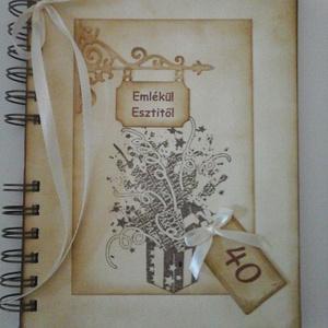 Emlékmegőrző - Szép emlékek az ajándékcsomagban - Boldog születésnapot! - egyedi album-születésnap - házassági évforduló, Album & Fotóalbum, Papír írószer, Otthon & Lakás, Papírművészet, Barátok, családtagok, munkatársak részére lehet jókívánságokat írni a naplóba.\n\n.....vagy barátok, c..., Meska